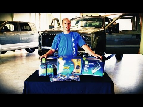 Installation of JL audio Component speakers sound system and 700 watt amp in 2011 F250 Super Duty