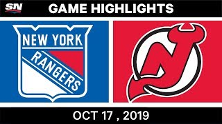 NHL Highlights  Rangers vs Devils – Oct 17 2019