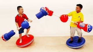 Alex & Lyndon Pretend Play Jousting with Inflatable Sports Toy for Kids