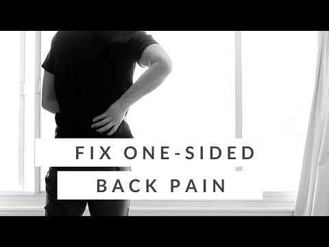Lower back pain on one side QL stretch for back pain (how-to)
