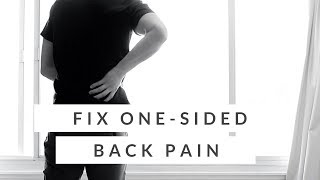 Lower back pain on one side - QL stretch for back pain (how-to)