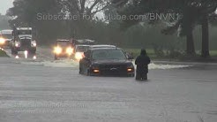 Hurricane Florence homes flooded vehicles stalling, Warsaw, NC - 9/15/2018