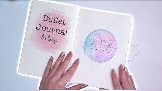 BULLET JOURNAL SETUP 2018!   Mina Jacobsen