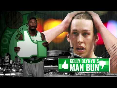 Celtics players on Kelly Olynyk's man bun