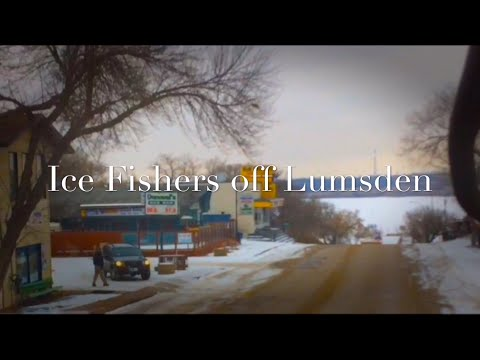 Ice Fishers off Lumsden