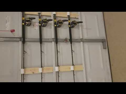 Diy Fishing Rod Holder Garage Door The Best Fish 2018