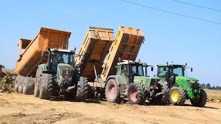 Terrassement - Cat et + de 20 tracteurs (Fendt, JD, NH, JCB, Claas)