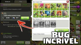 BUG INCRÍVEL NUNCA VISTO NO CLASH OF CLANS!!