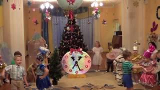 Танец вход на Новый год, средняя группа