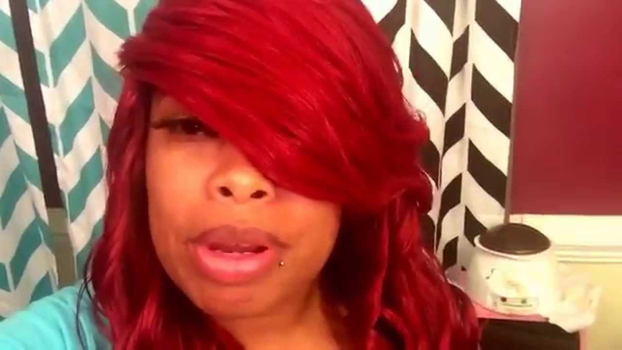 Red Quick Weave Hairstyle Youtube