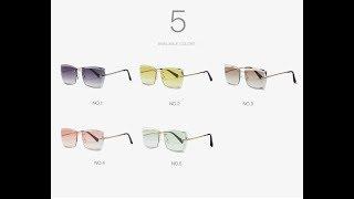 Women's Square Rimless Diamond Sun glasses | Best Sun glasses 2019