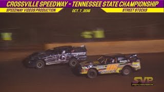 Crossville Speedway Street Stock Feature