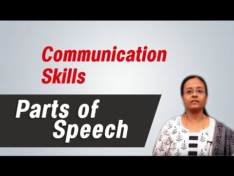 Parts of Speech :Best English grammar & communication skills tips