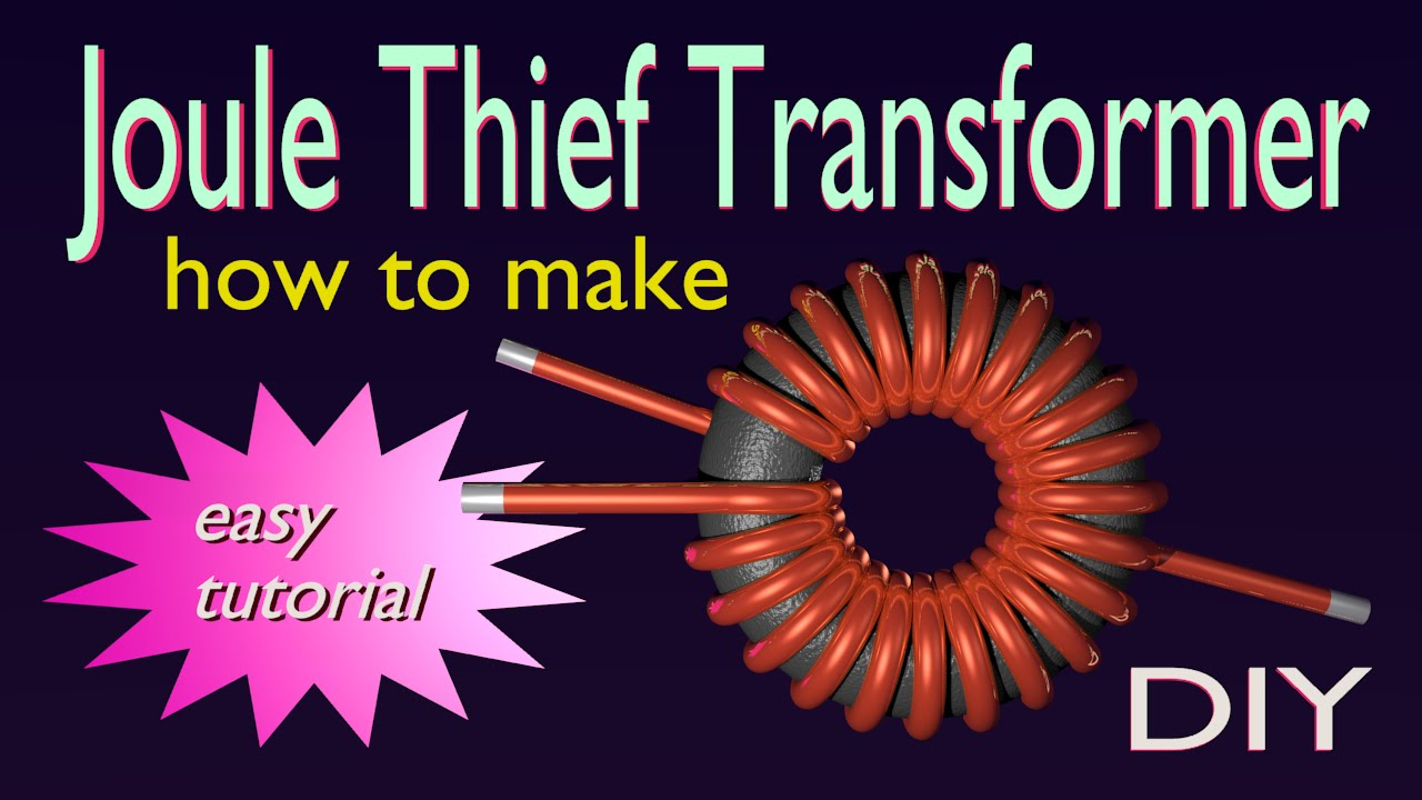 JouleThief Transformer  how to make  DIY  YouTube