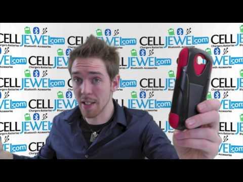CellJewel.com - ZTE Galaxy Express Red Skin/Black Hybrid Skin/Snap Case
