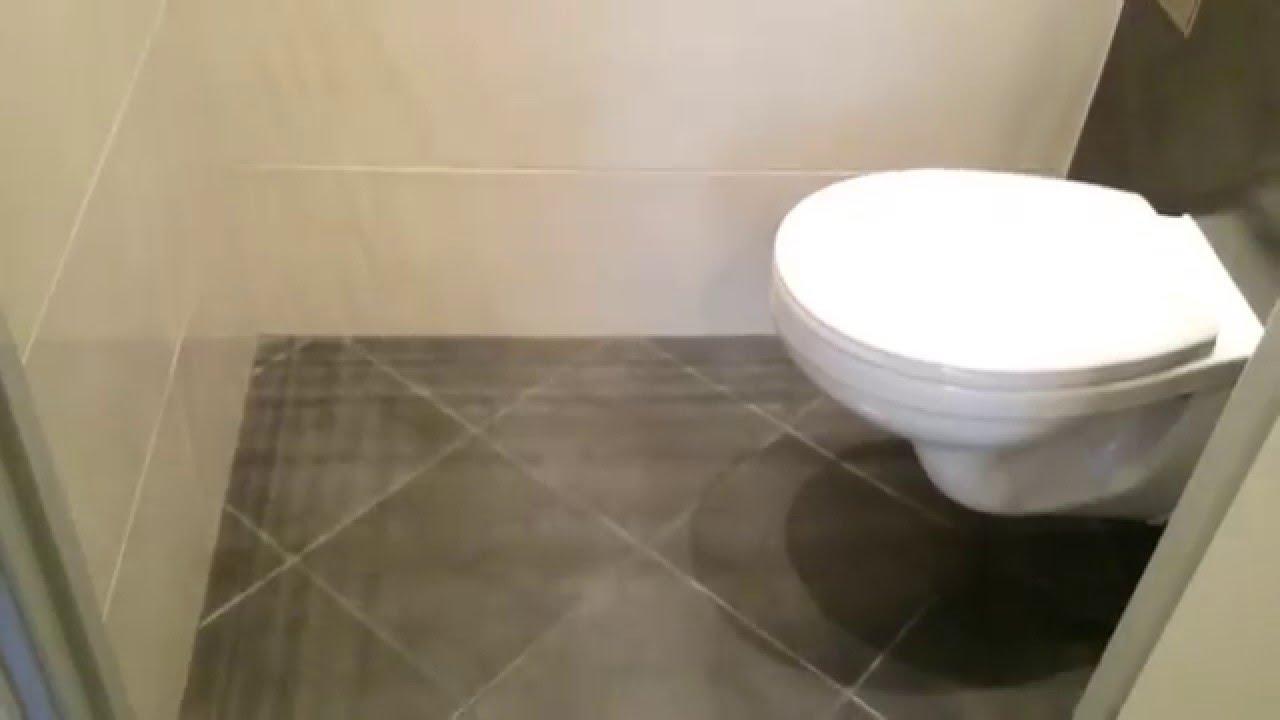 Toilet renovatie met verborgen closetrol houder - Renovatie wc ...