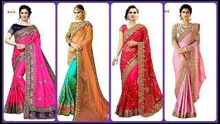 Heavy Embroidery Designer partywear saree with price| Bridal Designer saree for wedding, engagement