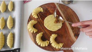 Ağızda dağılan ELMALI KURABİYE tarifi - Karamelli  -Masmavi3 Mutfakta -