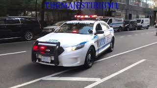 COMPILATION OF NYPD POLICE UNITS RESPONDING IN VARIOUS NEIGHBORHOODS OF NEW YORK CITY.  34