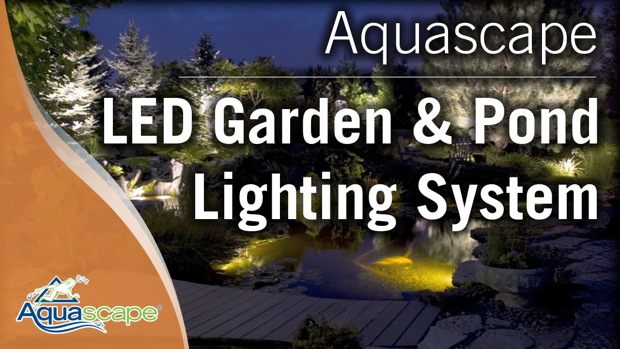Charmant LED Garden And Pond Lighting System By Aquascape
