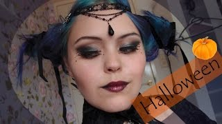 Gothic raven queen - Halloween make-up, hair and costume DIY