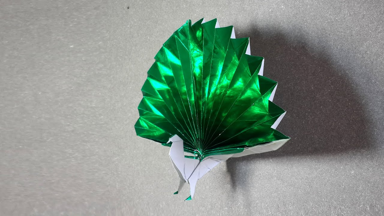 origami peacock tutorial diy henry ph��m youtube