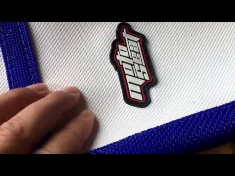 Motoseat 2016 Yz250f Motocross Seat Cover.White With Blue Ribs