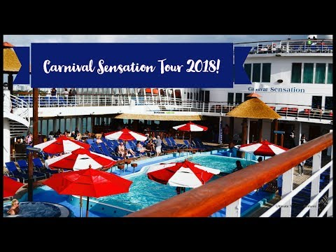 Carnival Sensation Cruise Ship Tour 2018!