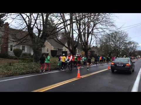 Galen Rupp Runs In The Foot Traffic On A Half