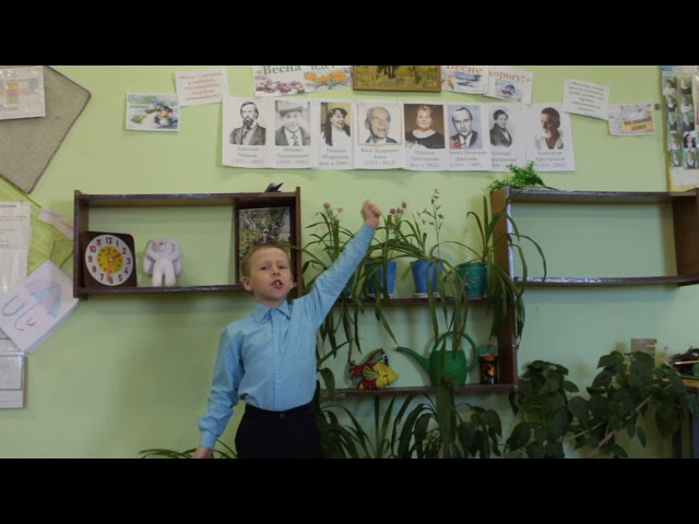 Изображение предпросмотра прочтения – ВладиславКалинин читает произведение «Весна(Уходи,зима седая!...)» А.Н.Майкова