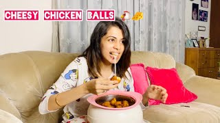Cheesy Chicken Balls | Diya Krishna