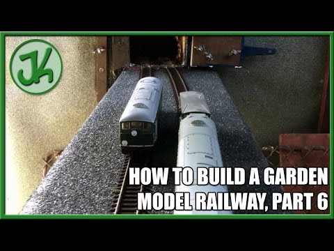 How to Build A Garden Model Railway, Part 6 – The First Running Trains