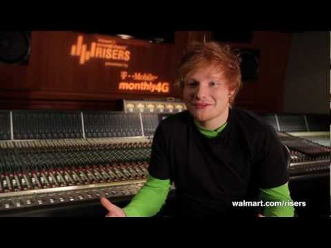 Ed Sheeran Offers Advice to Aspiring Musicians on Walmart Soundcheck Risers