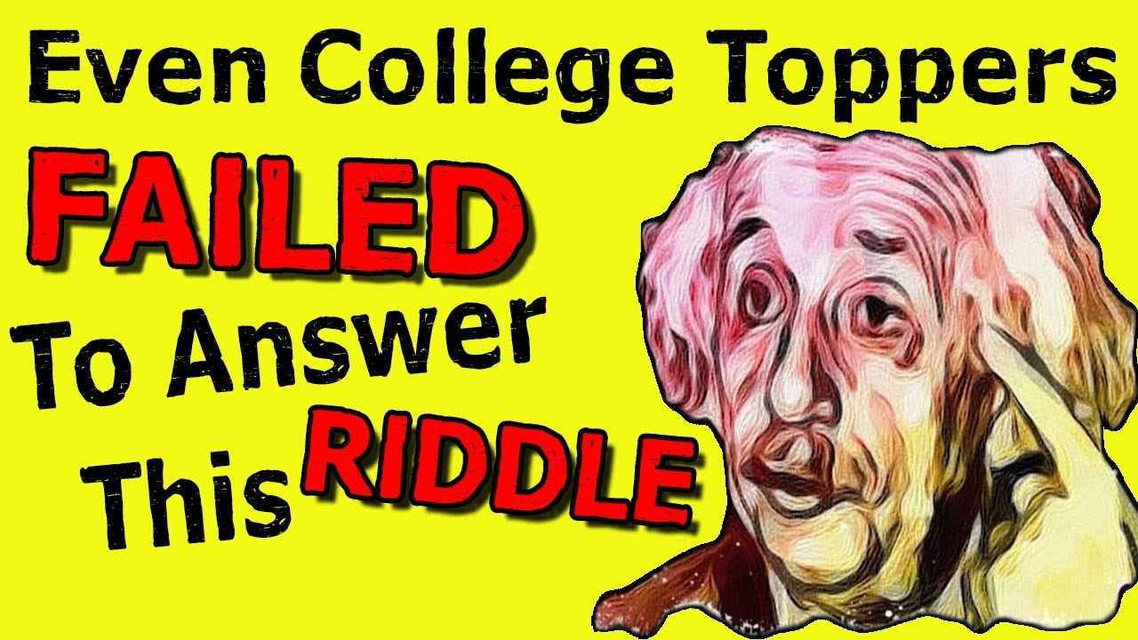 World's Toughest Riddle Challenge | 96% will Fail to Answer it