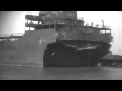 SS E. H. Blum (Broken In Half) Brought To Port, Philadelphia 5/19/42 (full)