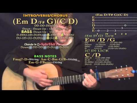 Moolah (Young Greatness) Guitar Lesson Chord Chart - Capo 2nd - Em D G C D