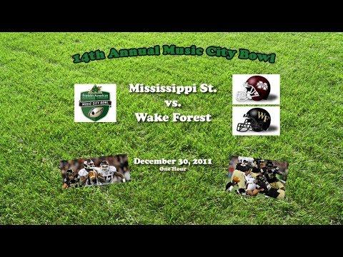 2011 Music City Bowl Mississippi St v Wake Forest One Hour