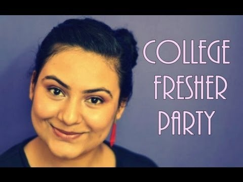 College fresher party makeup - YouTube