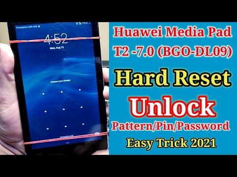 Huawei MediaPad T2 7.0 Hard Reset || Unlock Pattern/Pin/Password Very Easy