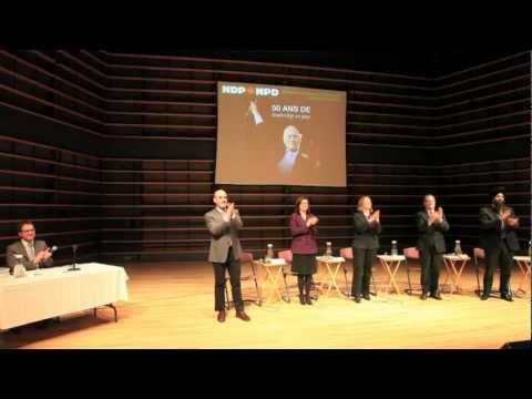 NDP Leadership Debate at Concordia University, Montreal, Quebec