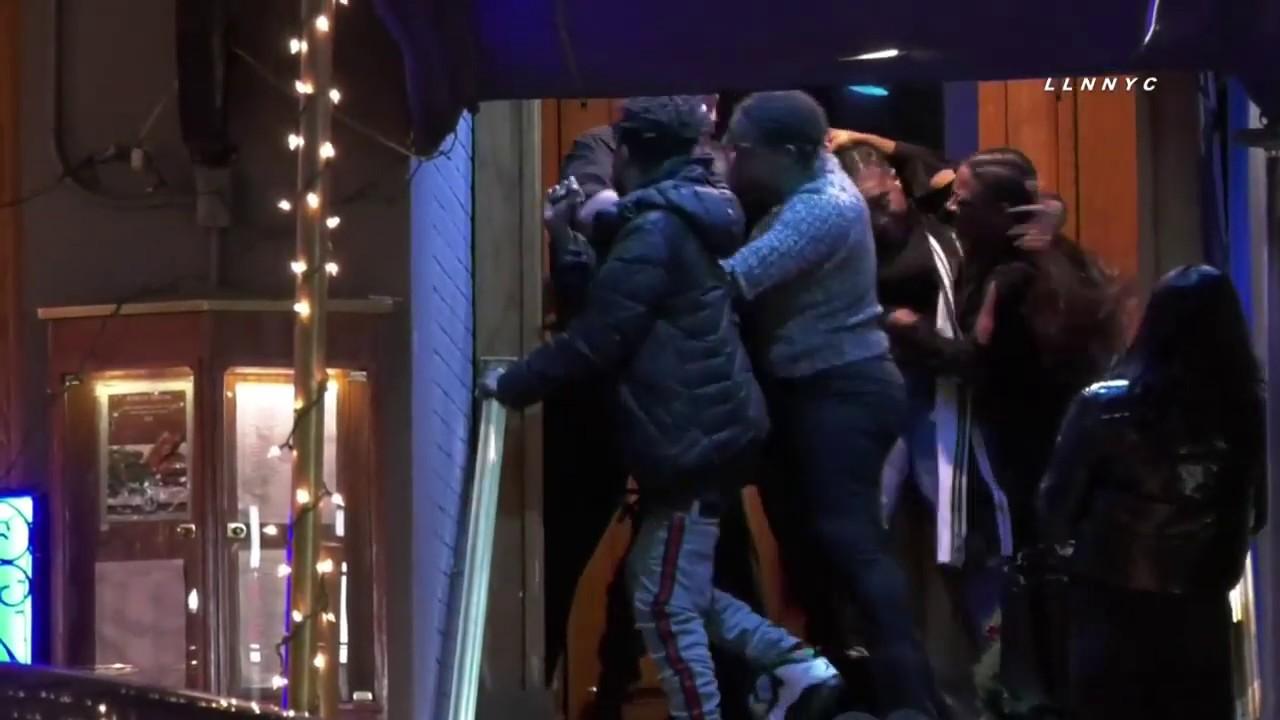 Download Wild Wig-Ripping Bar Brawl Spills Out Onto Manhattan Street