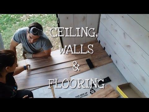 School Bus Conversion -  Ceiling, Walls & Flooring