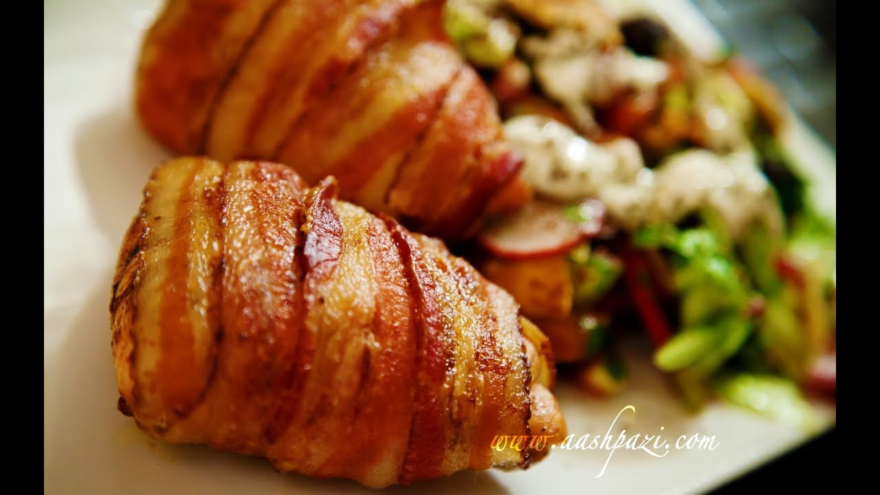 Bacon Wrapped Chicken Breast Recipe Youtube