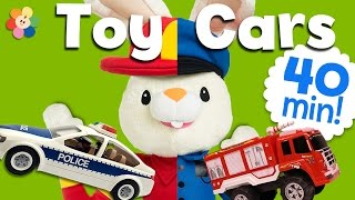 Unboxing Toy Trucks & Cars | Fire Truck, Tractor, Police Car | Truck Videos for kids | BabyFirst TV