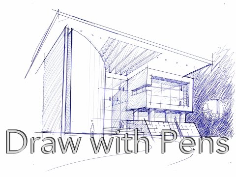 Architecture Sketch Tutorial 7 Draw with Pens