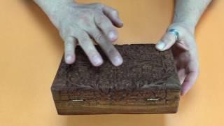 Видеообзор резной шкатулки из розового дерева