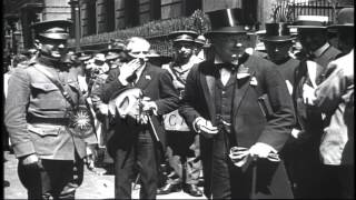 scenes in london england following the armistice ending world war i hd stock footage