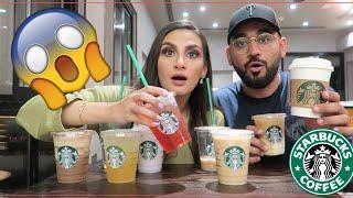 Trying MY Subscribers FAVORITE Starbucks Drinks! جربنا أفضل مشروبات ستاربكس