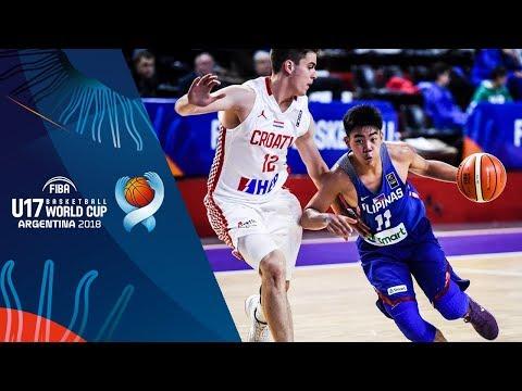 Croatia def. Batang Gilas, 97-75 (REPLAY VIDEO) FIBA U17 Basketball World Cup 2018