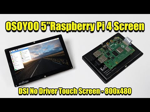"OSOYOO 5"" Raspberry Pi 4 Screen 800x480 60hz - DSI No Driver Touch Screen"